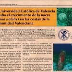 La Universidad Católica de Valencia estudia el crecimiento de la nacra (Pinna nobilis) en las costas de la Comunidad Valenciana
