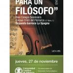 Concierto homenaje a Julián Marías «Música para un filósofo» el 27 de Noviembre