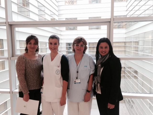 Alumnas y profesoras en Madrid