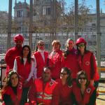 Alumnos de 4º de Enfermería, realizan prácticas en el dispositivo de seguridad de les mascletaes, desde el día 1 al 19 de marzo en la Plaza del Ayuntamiento de Valencia.