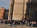 Peregrinacion Santo Caliz UCV entrada Catedral