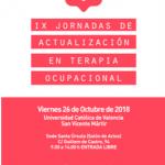 IX Jornadas de Actualización en Terapia Ocupacional