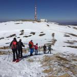 El GMA realiza una excursión en raquetas de nieve a Javalambre