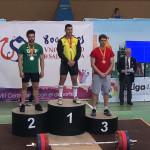 Rubén Artes medalla de plata en halterofilia