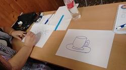 Dibujos de la actividad de arte y memoria