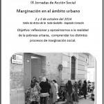 IX Jornadas de Acción Social: Marginación en el ámbito urbano